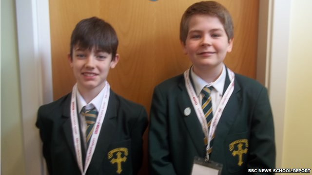 Ciaran and  Noah – Manchester School Reporters