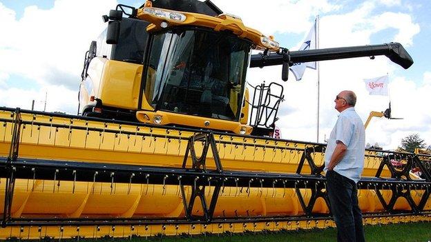 Combine harvester at Royal Norfolk Show 2011