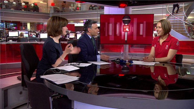 Lizzy Yarnold on BBC News