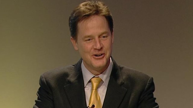 Nick Clegg makes conference speech