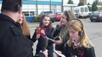 Pupils from Theale Green School in Berkshire on BBC Berkshire.
