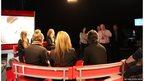 School Reporters sitting facing BBC NI News Director Davy McCoy