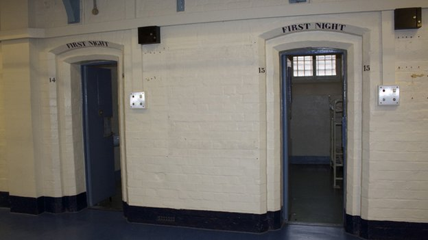 Cells for prisoners spending their first night at HMP Shrewsbury