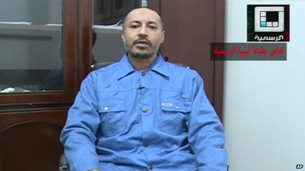 Saadi Gaddafi appears on Libyan state TV from prison in Tripoli