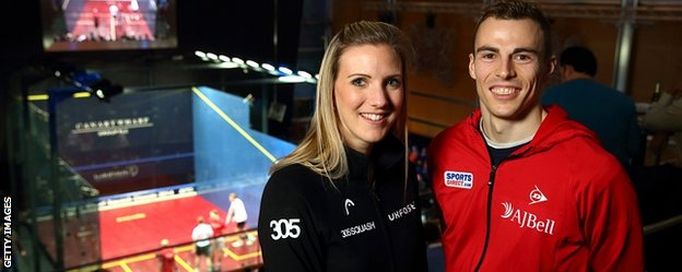 England's world champions Laura Massaro and Nick Matthew
