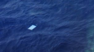 An image of one of the objects spotted by a New Zealand plane on Friday