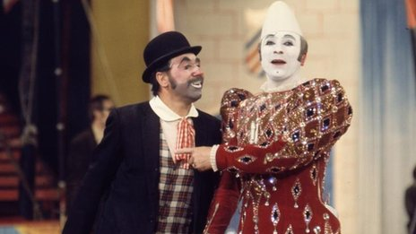 Circus clowns in the 1970s