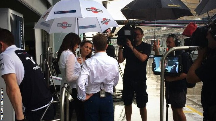 Claire Williams and Suzi Perry
