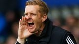 Garry Monk shouts instructions to his team