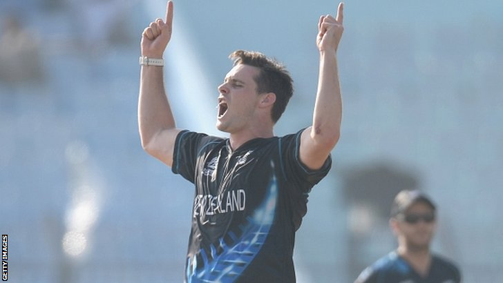 Mitchell McClenaghan of New Zealand