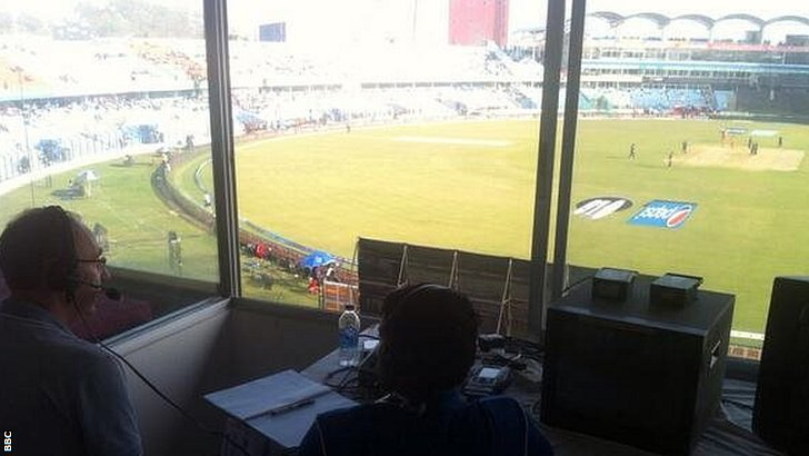 The BBC commentary box