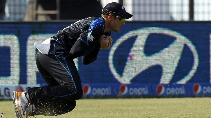 Martin Guptill takes a catch