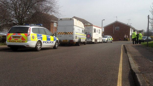 Police cordon on Wakefield Close