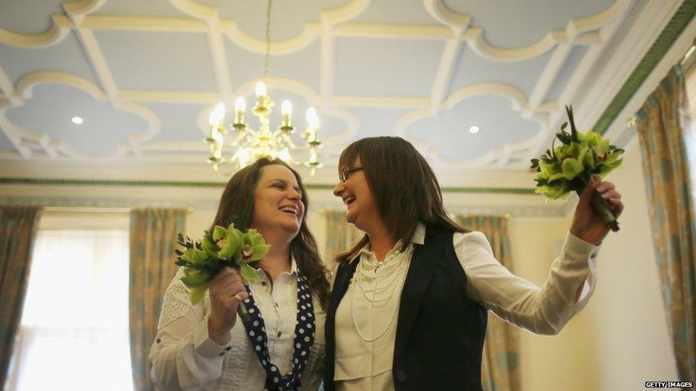 Teresa Millward (left) and her wife Helen Brearley
