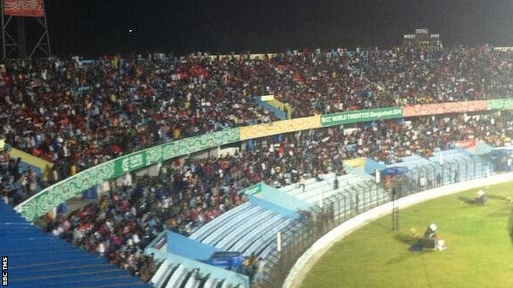 Packed stands in Mirpur