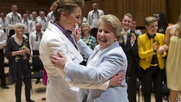 Sandi Toksvig and partner Debbie