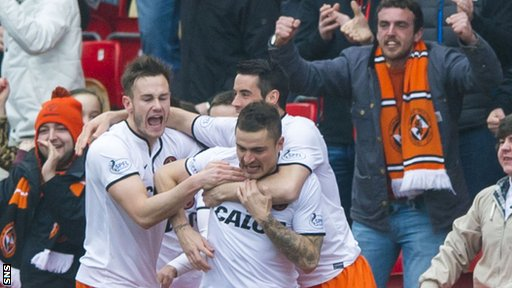 Dundee United took the lead through Paul Paton
