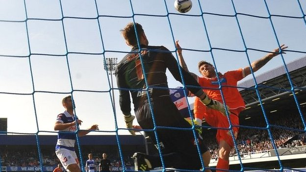 Blackpool's David Goodwillie scores their decisive winner