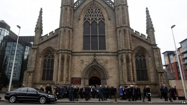 People gathered for service at St Andrew's Cathedral