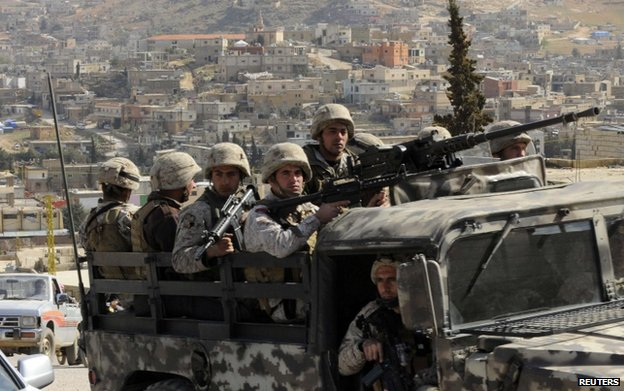 file pic soldiers in Arsal