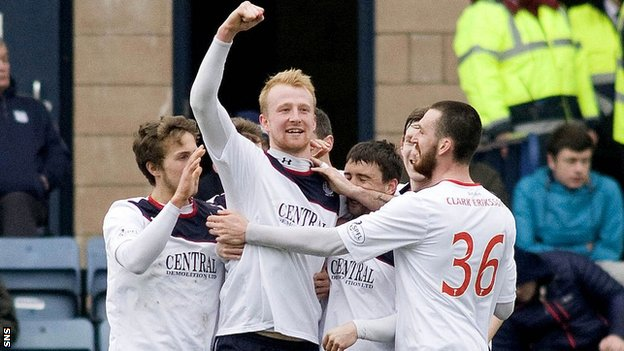 Falkirk players celebrating