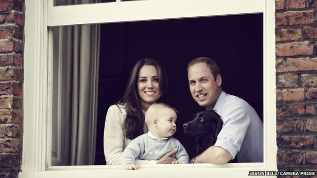 The Duke and Duchess of Cambridge and Prince George, DUKE OF CAMBRIDGE AND DUCHESS OF CAMBRIDGE RELEASE NEW FAMILY PHOTO AHEAD OF 3-WEEK TOUR