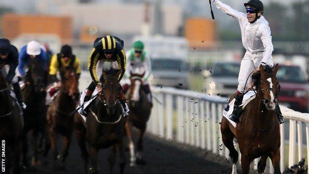 Toast of New York wins the UAE Derby at Meydan