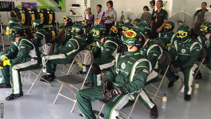 Caterham team