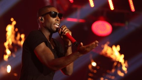 Tinie Tempah performing at the Radio 1 Teen Awards 2013