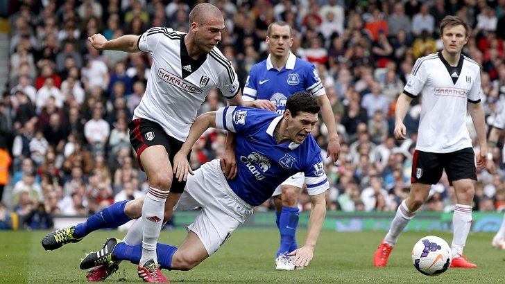 Pajtim Kasami (left) in action for Fulham
