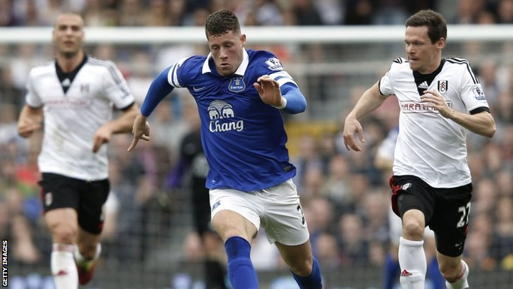 Ross Barkley in action for Everton