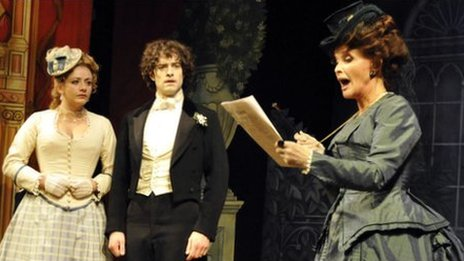 Lee Mead and Kate O'Mara