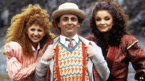 (l-r) Bonnie Langford, Sylvester McCoy and Kate O'Mara, 1987