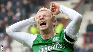 Hibernian defender Ryan McGivern