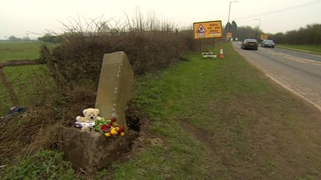Scene of the crash on Hull Road