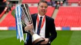 Peterborough United manager Darren Ferguson holds the Johnstone's Paint Trophy