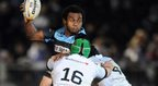 Glasgow second-row Leone Nakarawa is head and shoulders above the Ospreys defence in his team's 11-9 win over the Welsh region in the Pro12