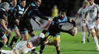 Glasgow winger Niko Matawalu probes the Ospreys defence during his side's 11-9 win over the Welsh region on Friday night