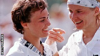 Martina Hingis and Jana Novotna