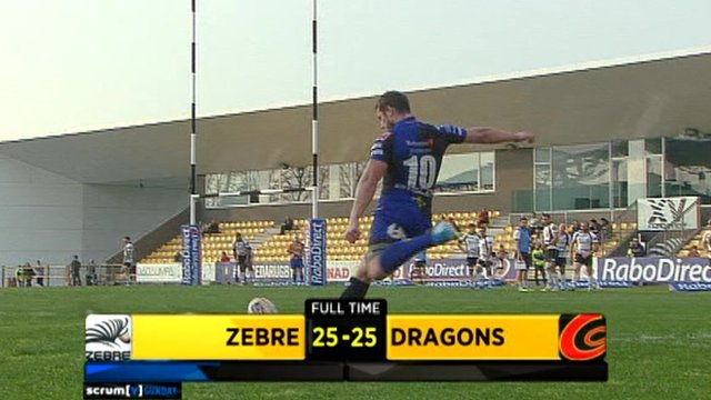 Zebre v Dragons