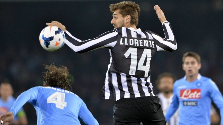 Juventus striker Fernando Llorente