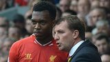 Liverpool striker Daniel Sturridge and manager Brendan Rodgers