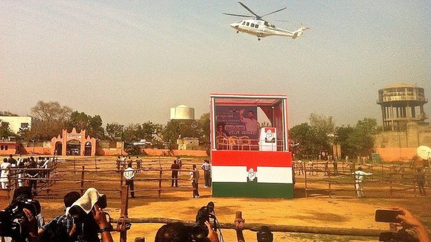 Rahul Gandhi campaign helicopter