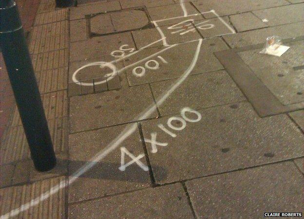 pedestrian crossing road markings