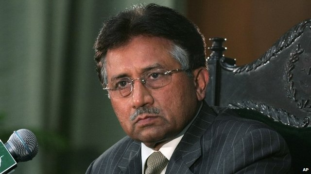 BBC News - Pakistan's Musharraf charged in treason case