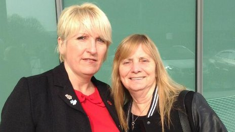 Sue Roberts and Margaret Aspinall from the Hillsborough Family Support Group