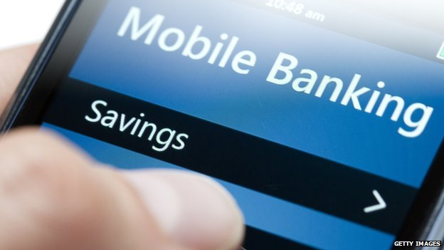 mobile banking app on smartphone