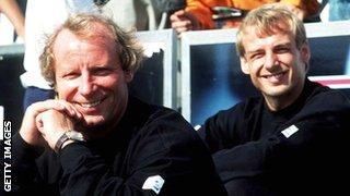 Jurgen Klinsmann and Berti Vogts