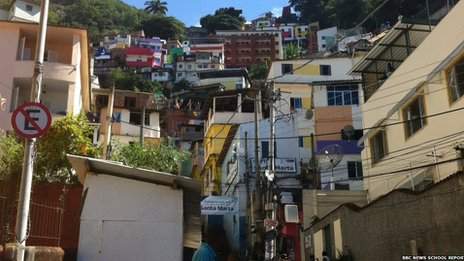 The Santa Marta Favela, Rio de Janiero, Brazil