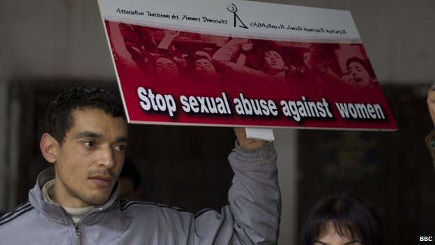 Anti-sexual abuse rally in Tunisia